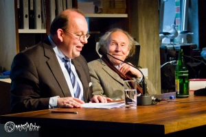 Peter Kurzeck und Denis Scheck v. r. Foto: Anders Balari
