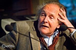 Peter Kurzeck erzählt mit Leidenschaft. Foto: Anders Balari