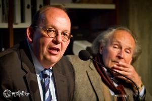 Moderiert wie immer brilliant: Denis Scheck. Foto: Anders Balari