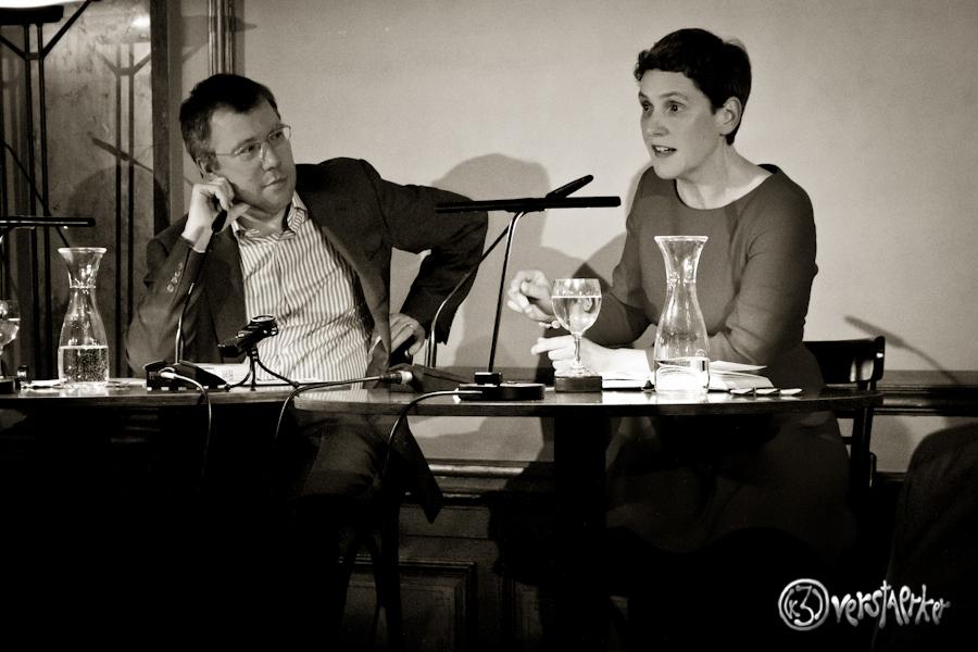 Felicitas Hoppe und Hubert Spiegel. Foto: Anders Balari